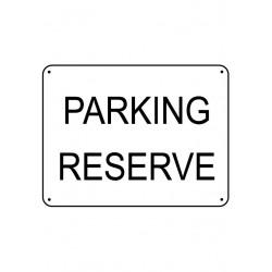 Panneau Parking Réservé Renforcé pour poteau