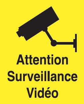 Attention Surveillance Vidéo Etiquettes