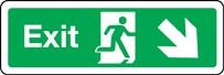 Panneau Exit (flèche bas droite)