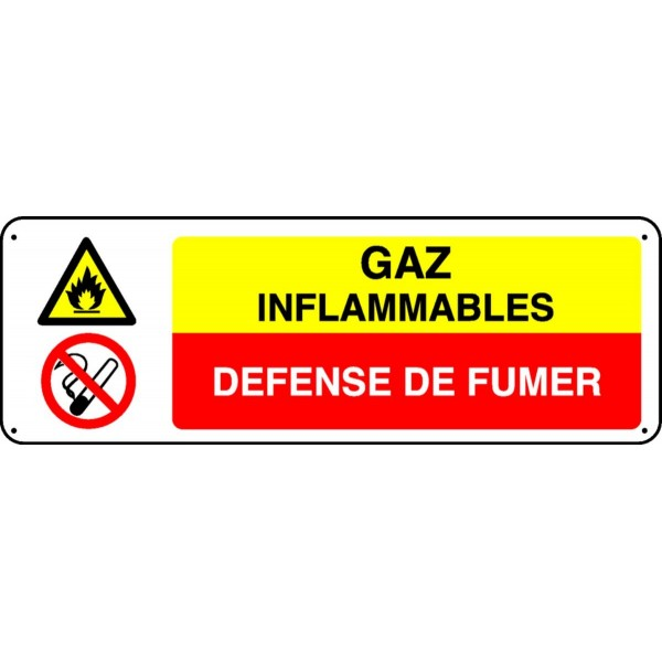 panneau gaz inflammables d fense de fumer stocksignes. Black Bedroom Furniture Sets. Home Design Ideas
