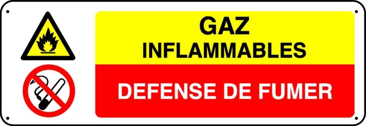 Panneau Gaz Inflammables Défense de Fumer