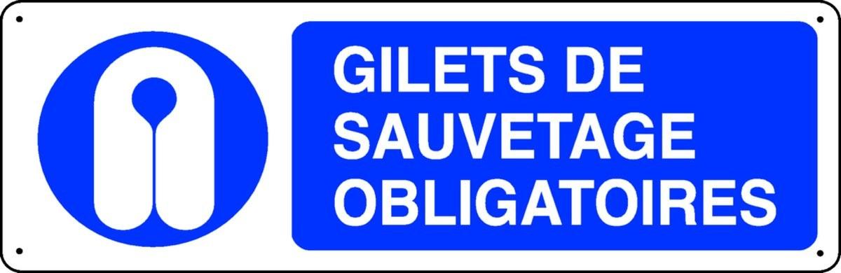 Panneau Gilets de sauvetage obligatoires