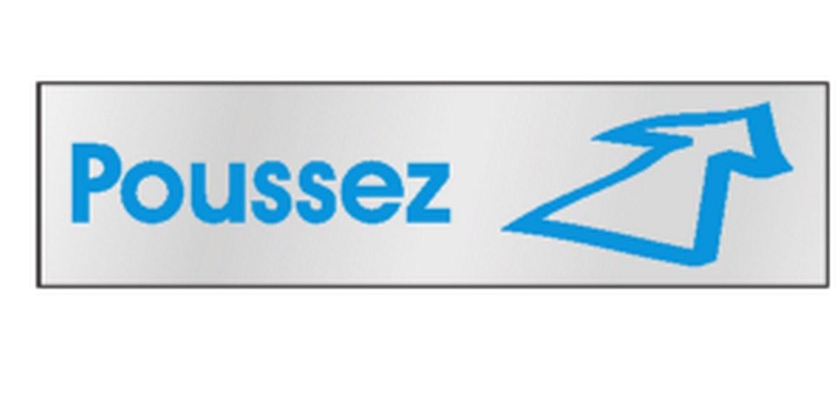 Plaque Poussez