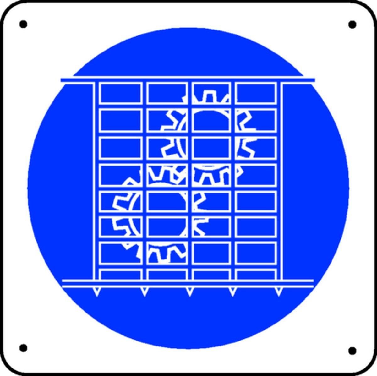 Panneau Grille Obligatoire Picto