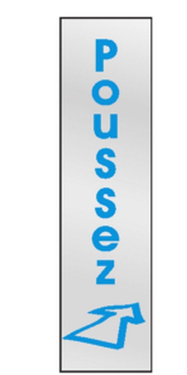 Plaque de porte Poussez ( vertical )