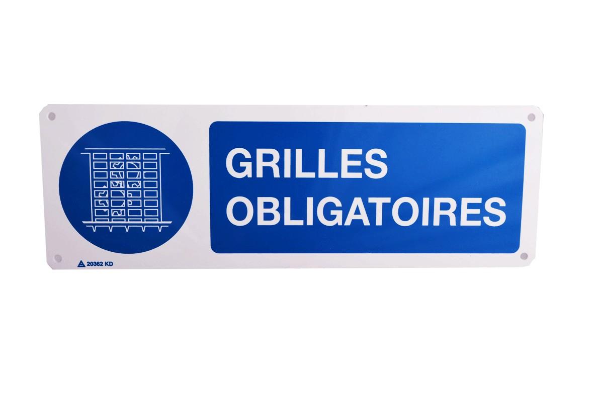 Panneau Grilles Obligatoires