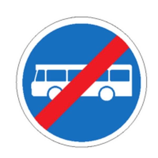 Panneau Fin de voie réservée pour autobus Classe 2