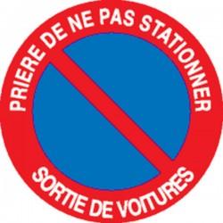 Panneau pri re de ne pas stationner sortie de voitures for Panneau d interdiction de stationner devant un garage