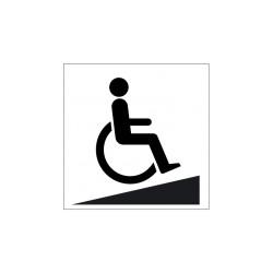 Panneau Rampe Handicapés Picto