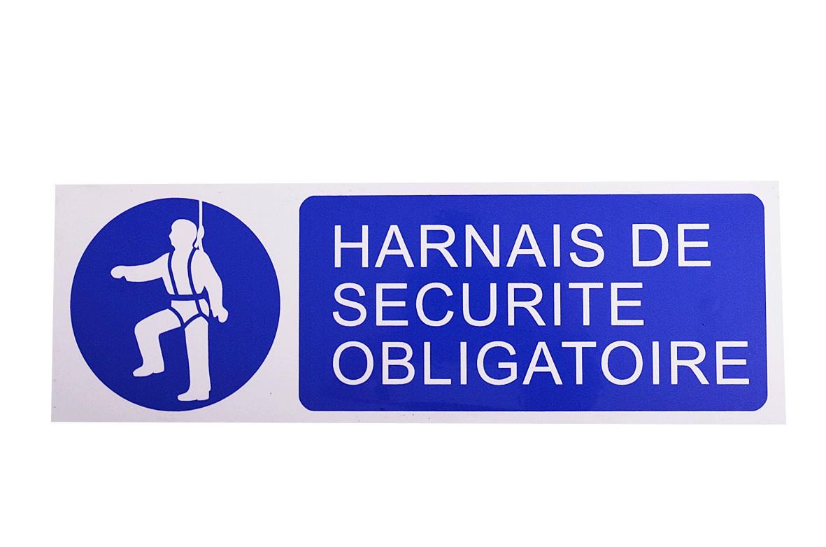 Panneau Harnais de sécurité obligatoire