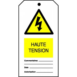 Etiquette Haute Tension (Paquet de 10)