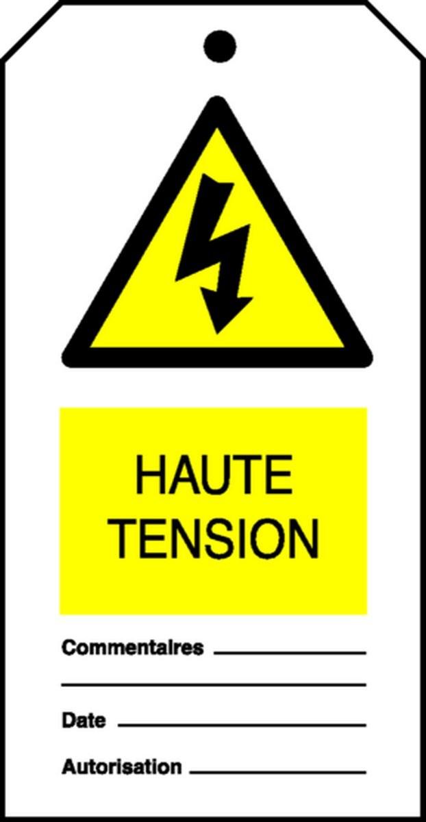 Etiquette Haute Tension (Paquet de 10)
