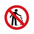 Panneau Interdit de jeter ses déchets au sol Picto