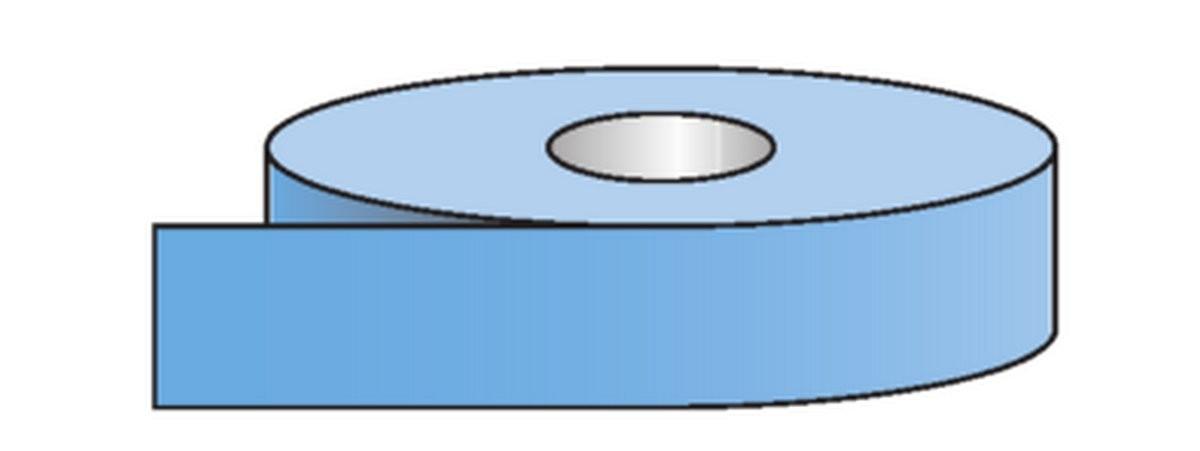 Rouleau pour tuyauteries Air-Bleu Clair (50mm)