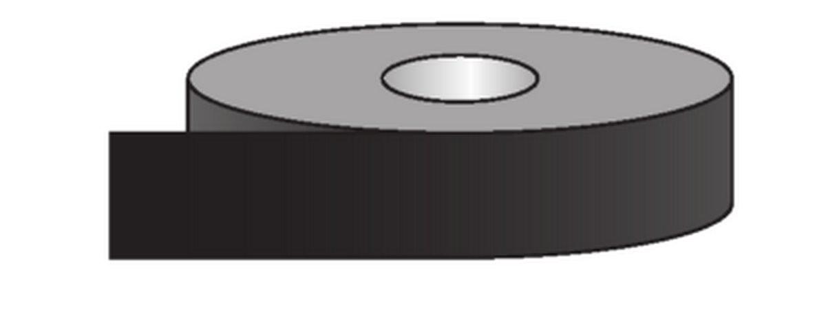Rouleau pour tuyauteries Autres Liquides-Noir (50mm)