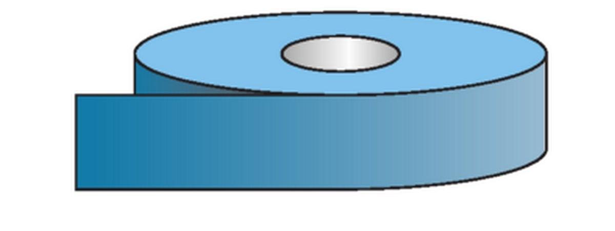 Rouleau pour tuyauteries Coul. de Sécurité-Bleu Aux. (50mm)