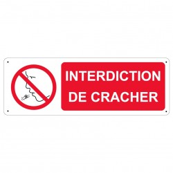 Panneau Interdiction de cracher