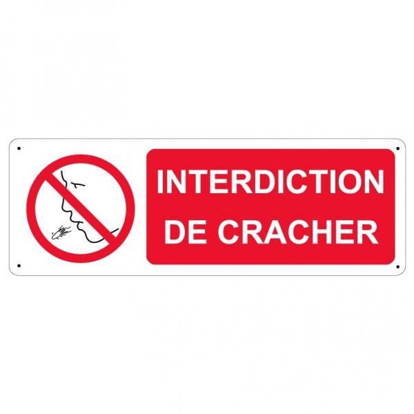 Panneau Interdiction De Cracher Stocksignes