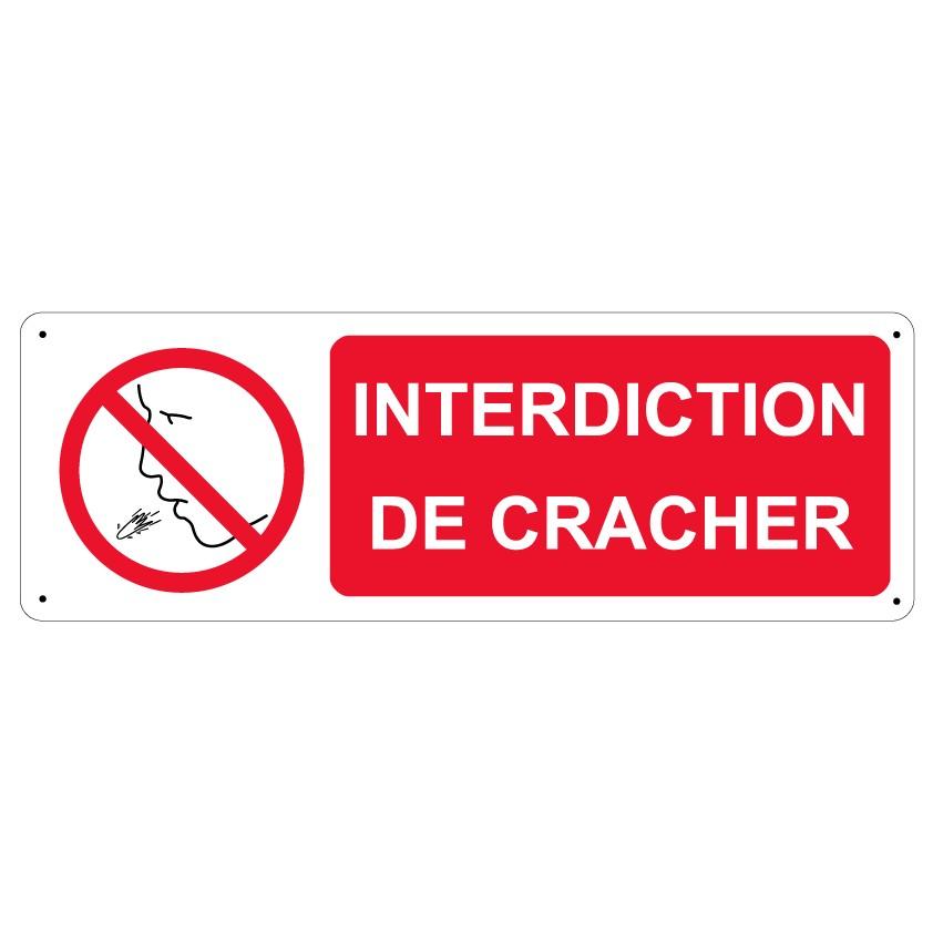 Panneau Interdiction de cracher