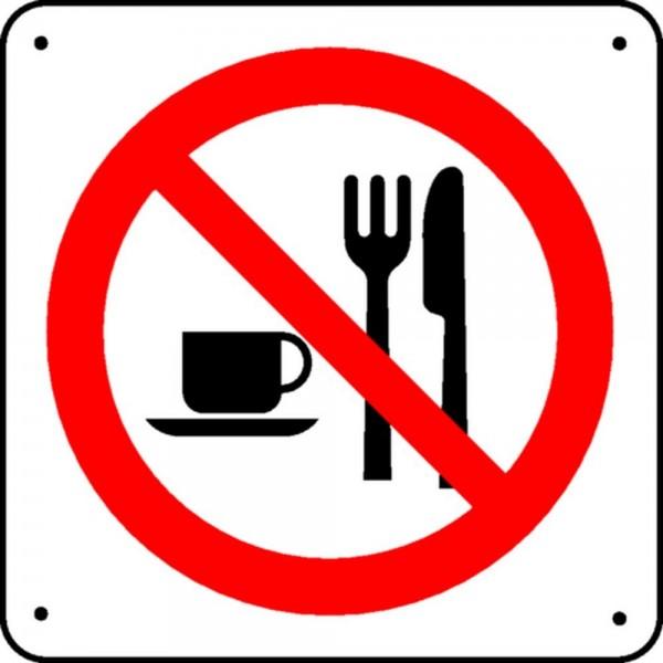 Panneau interdiction de manger picto stocksignes - Panneau signalisation interdiction ...