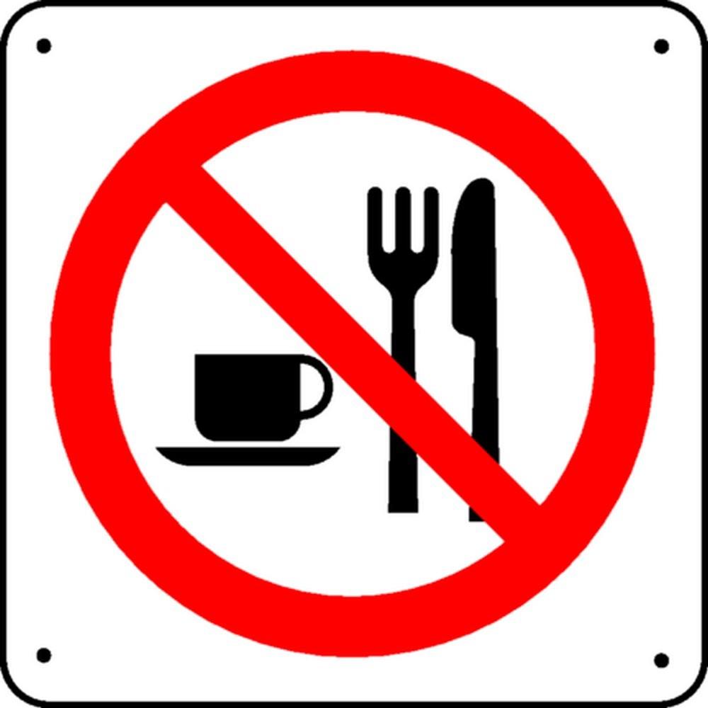 Panneau Interdiction de manger Picto