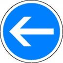 Panneau Sens obligatoire PVC avec pied Cl.Temporaire