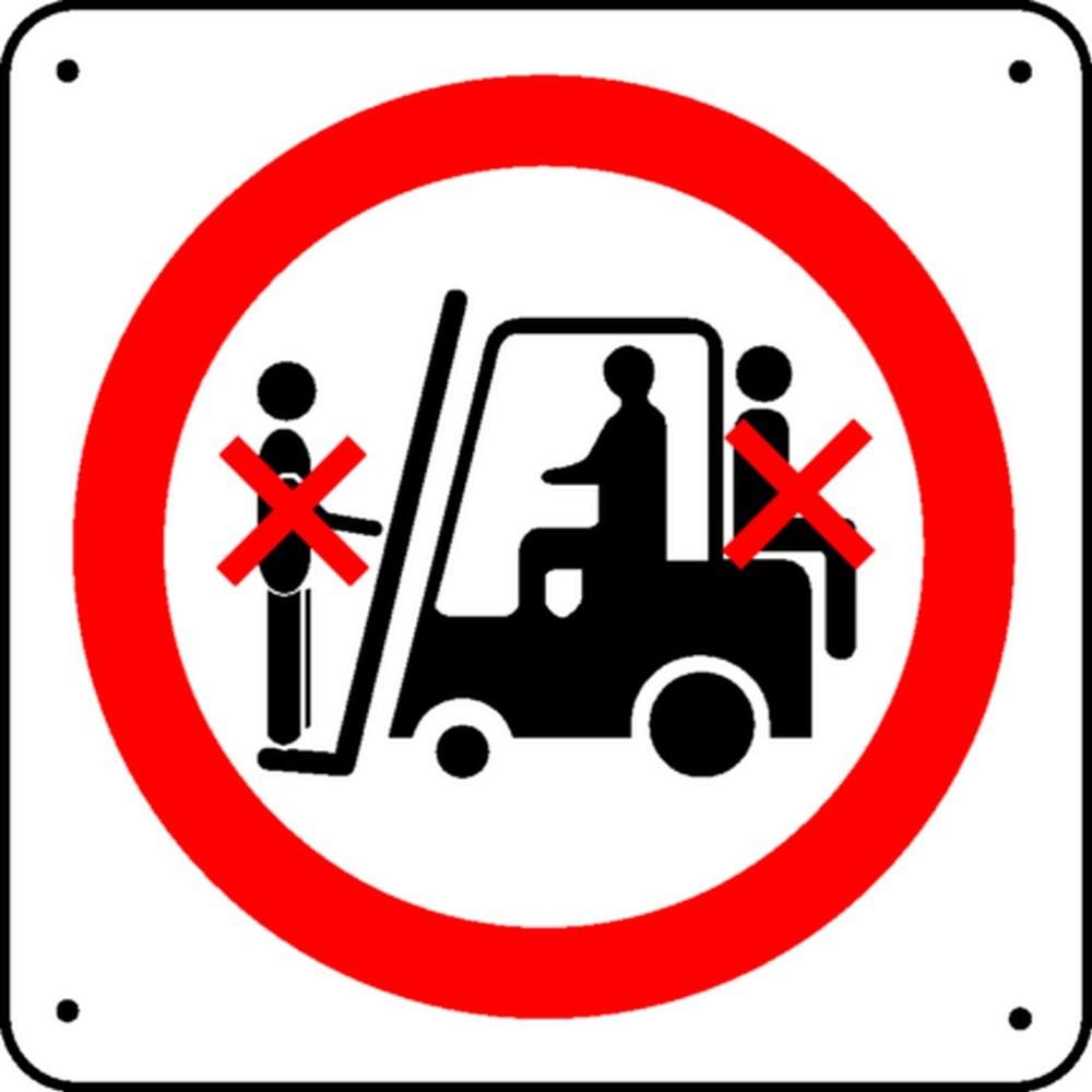 Panneau Interdiction de monter sur chariots Picto