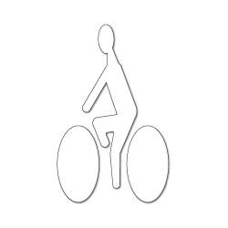 Pictogramme Cycliste blanc