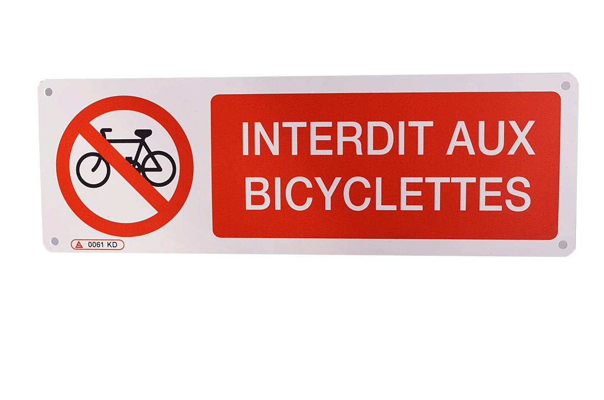 Panneau Interdit aux bicyclettes