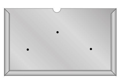 Support acier pour plaque