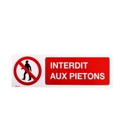 Pictogramme Interdit aux piétons
