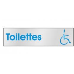 Plaque de porte Toilettes PMR