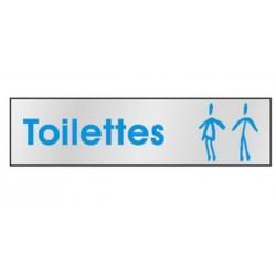 Plaque de porte Toilettes H/F