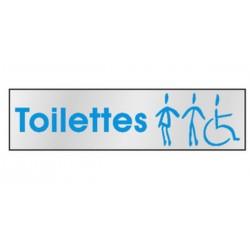 Pictogramme Toilettes H+F+PMR