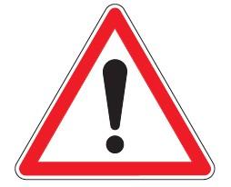 Triangle de danger thermocollant