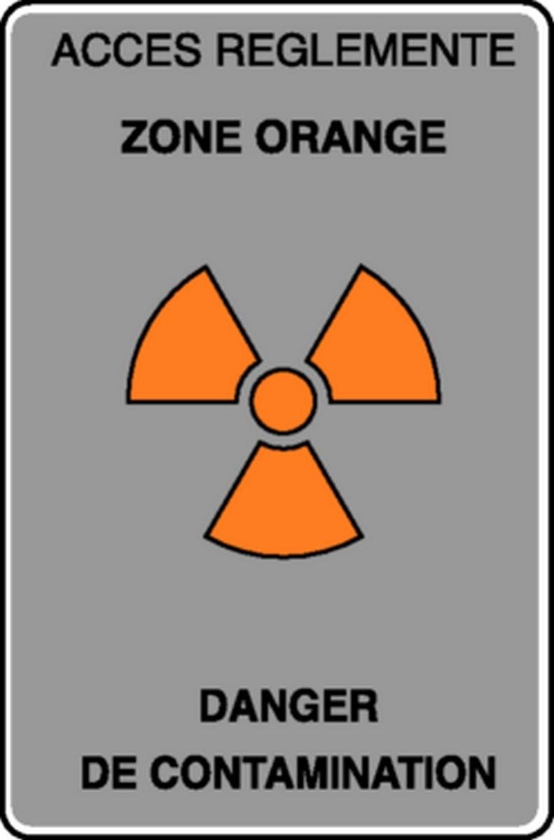 Panneau Accès réglementé Danger de contamination
