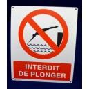Interdit de plonger