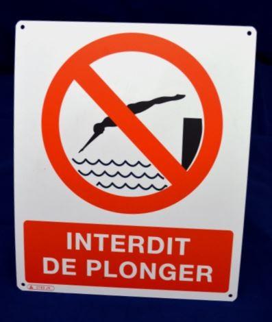 Panneau Interdit de plonger