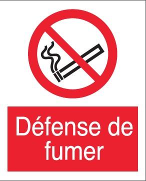 Défense de Fumer Etiquettes