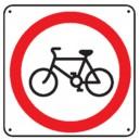 Panneau Interdit aux bicyclettes Picto
