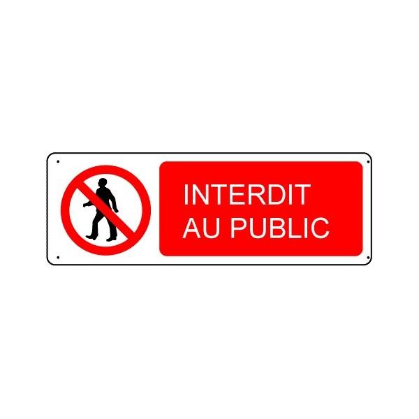 Panneau Interdit Au Public Stocksignes