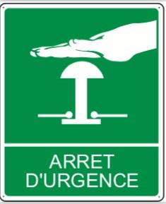 Pictogramme Arrêt d'urgence