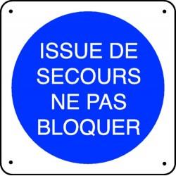 Panneau Issue de Secours Ne pas Bloquer