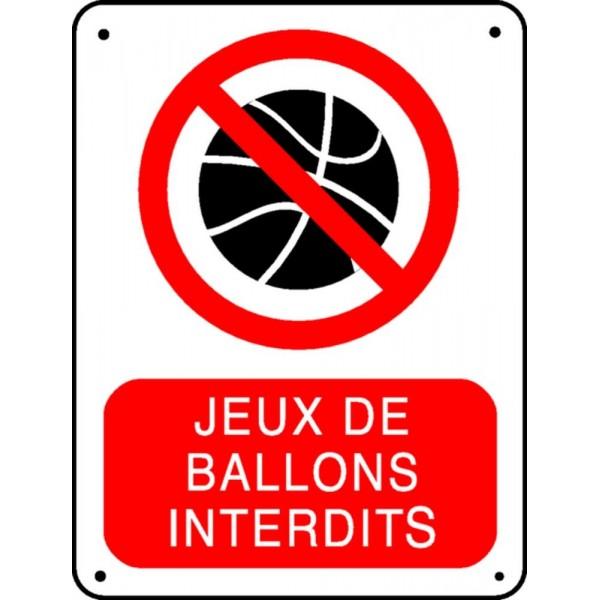 Panneau Jeux De Ballons Interdit Stocksignes