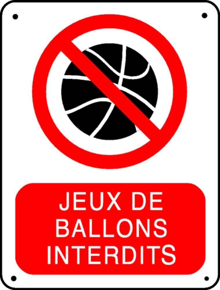 Panneau Jeux de ballons interdit