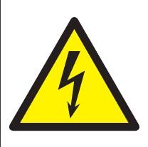 Pictogramme danger haute tension sur planche d'étiquettes