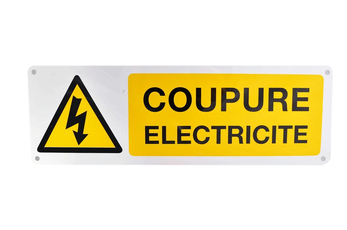 Panneau Coupure Electricité