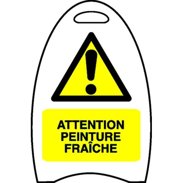 Chevalet attention peinture fra che stocksignes - Attention peinture fraiche ...