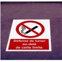 Défense de fumer au-delà de cette limite