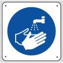 Panneau Lavez vos mains Picto